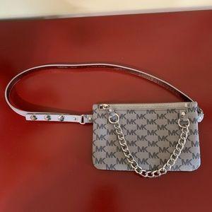 Michael Kors Silver Pull Chain Grey Belt Bag
